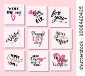 vector i love you text cards... | Shutterstock .eps vector #1008460435