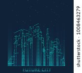 future city skyline... | Shutterstock .eps vector #1008463279