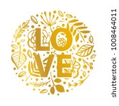 love floral card. hand drawn... | Shutterstock .eps vector #1008464011