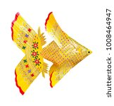 Yellow Weave Fish Isolated On...