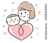 baby and child care_mother  ... | Shutterstock .eps vector #1008465001