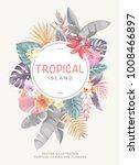 tropical hawaiian vintage... | Shutterstock .eps vector #1008466897