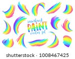rainbow colors painted... | Shutterstock .eps vector #1008467425
