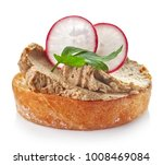 toasted bread with homemade... | Shutterstock . vector #1008469084
