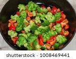 vegetables stewed  in a frying... | Shutterstock . vector #1008469441