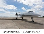 view of a jet on the tarmac | Shutterstock . vector #1008469714