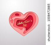 valentines day golden lettering ... | Shutterstock .eps vector #1008472885