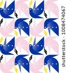 seamless pattern of elegant... | Shutterstock .eps vector #1008474067