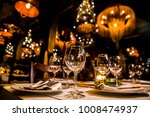 luxury elegant table setting... | Shutterstock . vector #1008474937