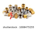plumbing fitting and tap ... | Shutterstock . vector #1008475255