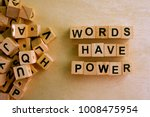 words have power word cube on...