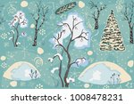 seamless winter pattern with... | Shutterstock .eps vector #1008478231