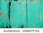 vintage turquoise green painted ... | Shutterstock . vector #1008479761
