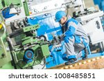 heavy duty metal lathe... | Shutterstock . vector #1008485851