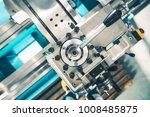 metal lathe adjustment closeup... | Shutterstock . vector #1008485875