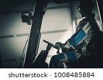 Caucasian Lift Truck Forklift...