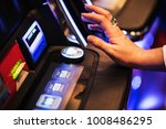 ready for slot machine spin....   Shutterstock . vector #1008486295