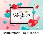 happy valentine's day poster... | Shutterstock .eps vector #1008486571