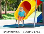 kids climbing and sliding on... | Shutterstock . vector #1008491761