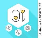 heart vector line icons. love... | Shutterstock .eps vector #1008492109