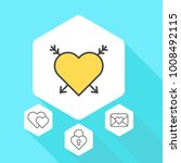 heart vector line icons. love... | Shutterstock .eps vector #1008492115