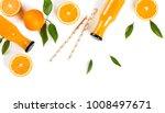 top view of fresh orange juice ... | Shutterstock . vector #1008497671