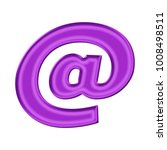 shiny silk purple at sign or...   Shutterstock . vector #1008498511