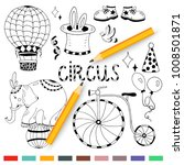 circus elements coloring set... | Shutterstock .eps vector #1008501871