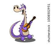 funny dinosaurs play guitars...   Shutterstock .eps vector #1008502951