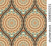 seamless pattern with ethnic... | Shutterstock .eps vector #1008503251