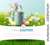 easter template with colorful...   Shutterstock .eps vector #1008507634