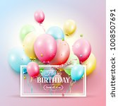 happy birthday greeting card... | Shutterstock .eps vector #1008507691