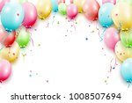 birthday template with colorful ... | Shutterstock .eps vector #1008507694
