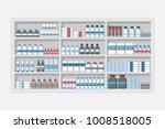 medicine shelves in pharmacy... | Shutterstock .eps vector #1008518005