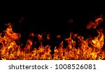 fire flames on black background. | Shutterstock . vector #1008526081