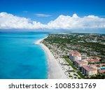 drone photo grace bay ... | Shutterstock . vector #1008531769