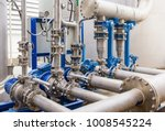 water pump station and pipeline ... | Shutterstock . vector #1008545224