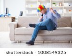 funny man singing songs in... | Shutterstock . vector #1008549325