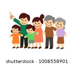 pointing third generation family | Shutterstock .eps vector #1008558901