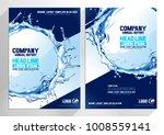 flyer brochure design. layout... | Shutterstock .eps vector #1008559141