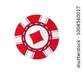 red casino token with diamonds... | Shutterstock .eps vector #1008560017