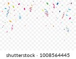 many falling colorful tiny... | Shutterstock .eps vector #1008564445