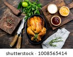 roasted chicken with rosemary... | Shutterstock . vector #1008565414