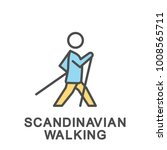 icon scandinavian walking.... | Shutterstock .eps vector #1008565711