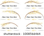 bamboo vector set  calligraphic ...   Shutterstock .eps vector #1008566464