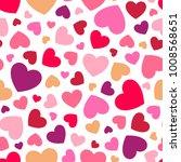 heart seamless pattern...   Shutterstock .eps vector #1008568651