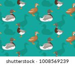 duck saxony cartoon seamless... | Shutterstock .eps vector #1008569239