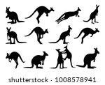 collection of kangaroo... | Shutterstock .eps vector #1008578941
