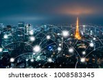 network and connection... | Shutterstock . vector #1008583345