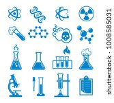 set of chemistry icons and... | Shutterstock .eps vector #1008585031